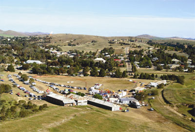 aerial view of the Burra Show in 2008