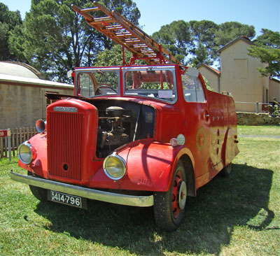 A Fire Engine kept at the Bon Accord Museum Burra